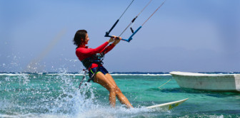 Instructor Olga Murye. Wave board PRO- RRD Maquina. Spot - Assalah, Dahab, Egypt