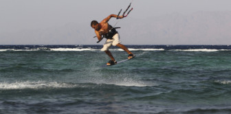 Instructor Nikolay Dubenko. Trick - Olly to blind. Spot - Assalah, Dahab, Egypt