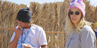 Инструктор Дмитрий Шматов и Ульяна Маркова, косметическая подготовка к каталке