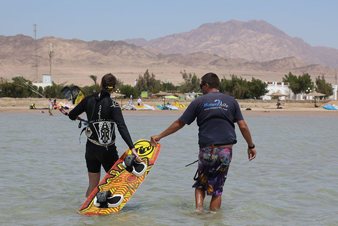 Kiteboarding lessons for any level. Beginners and advanced riders